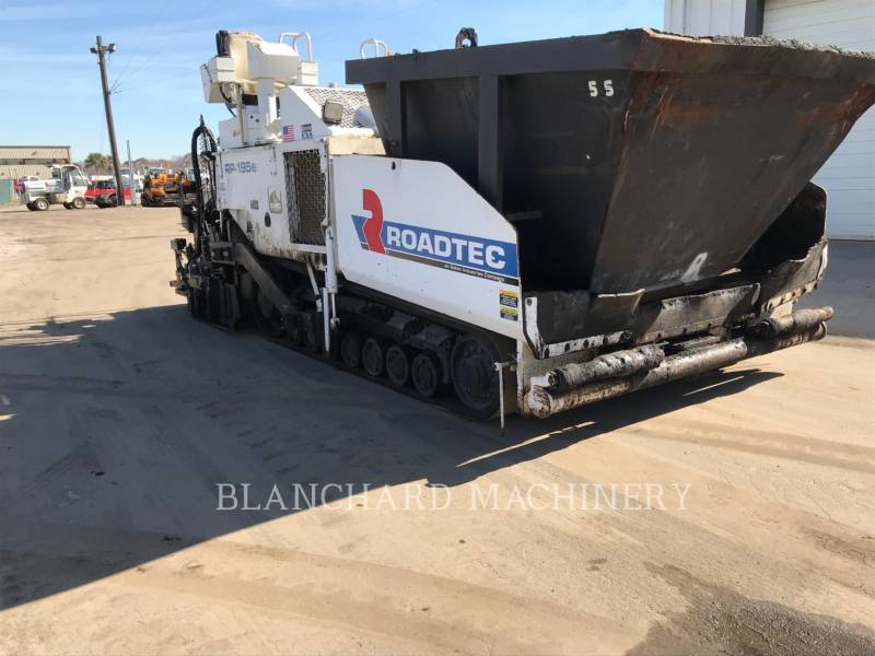 ROADTEC ASPHALT PAVERS RP - 195 E equipment  photo 4