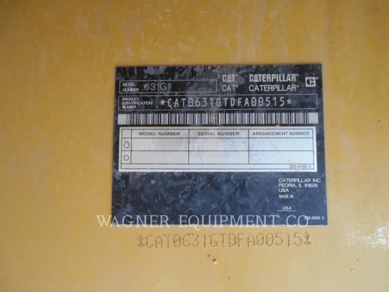 CATERPILLAR WHEEL TRACTOR SCRAPERS 631G equipment  photo 5