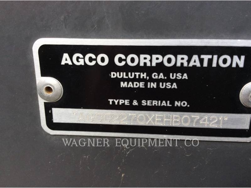 AGCO MATERIELS AGRICOLES POUR LE FOIN CH2270 XD equipment  photo 6
