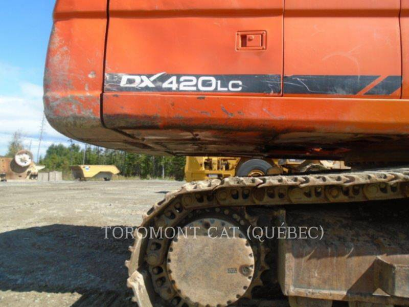 DOOSAN INFRACORE AMERICA CORP. KETTEN-HYDRAULIKBAGGER DX420 equipment  photo 5