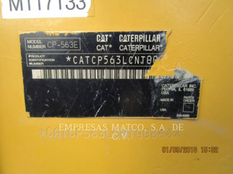 CATERPILLAR VIBRATORY SINGLE DRUM PAD CP-563E equipment  photo 14