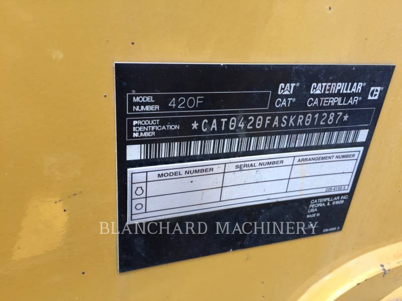 CATERPILLAR BAGGERLADER 420F equipment  photo 12
