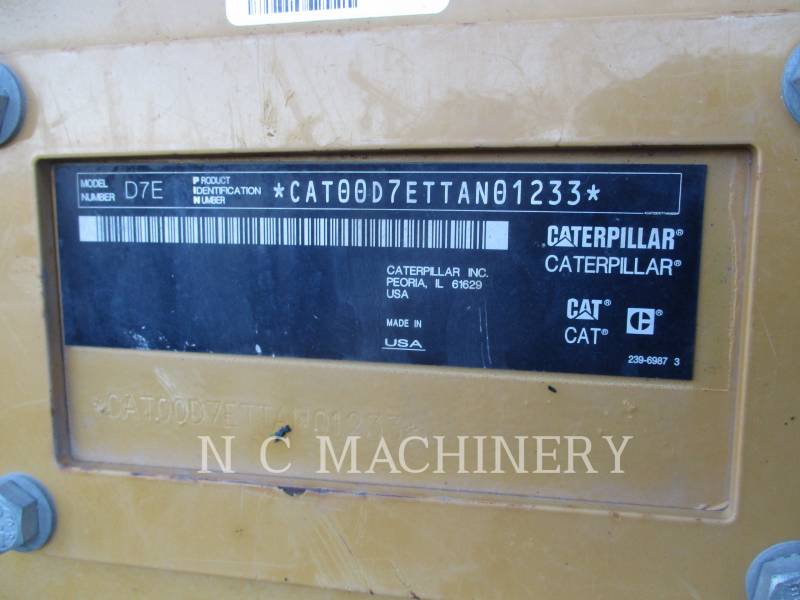 CATERPILLAR TRACK TYPE TRACTORS D7E equipment  photo 7