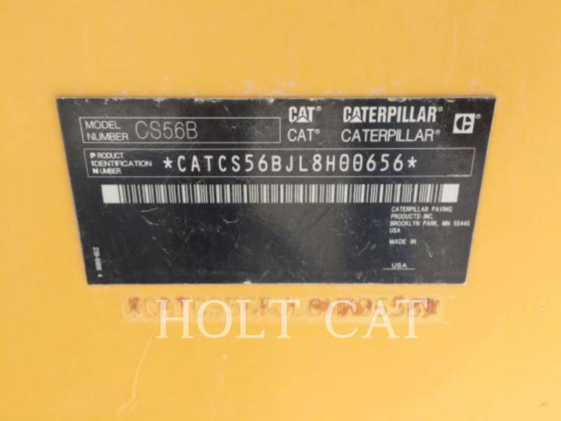 Caterpillar TAMBUR SIMPLU VIBRATOR PENTRU ASFALT CS56B CAB equipment  photo 5