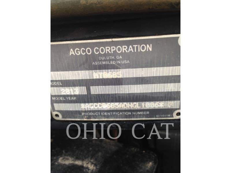 AGCO-CHALLENGER AG TRACTORS MT685D equipment  photo 17