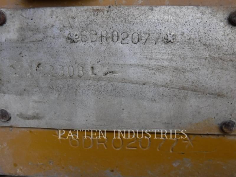 CATERPILLAR TRACK EXCAVATORS 330BL equipment  photo 6