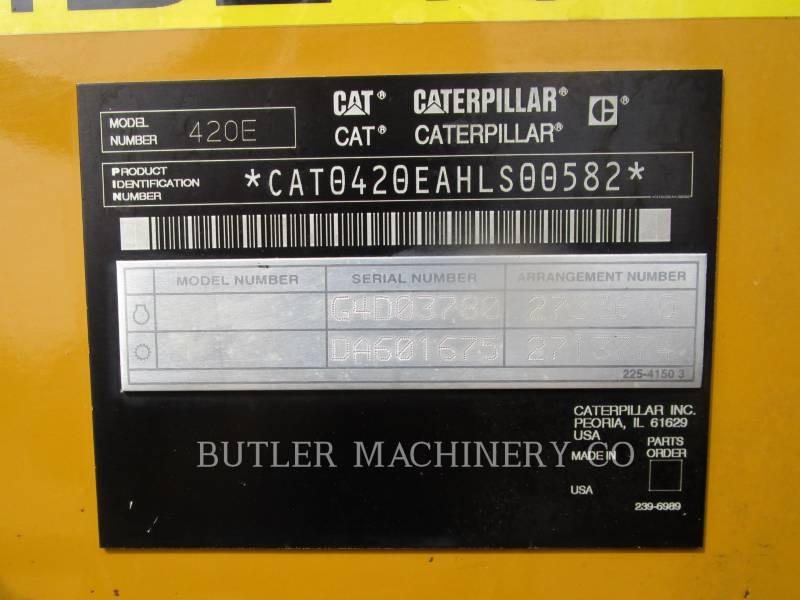 CATERPILLAR RETROEXCAVADORAS CARGADORAS 420 E equipment  photo 6