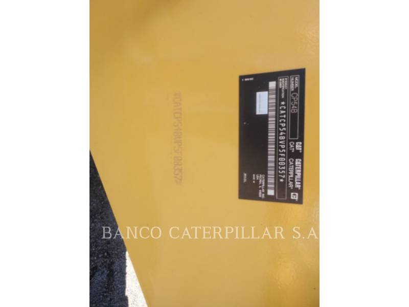 CATERPILLAR VIBRATORY SINGLE DRUM PAD CP54B equipment  photo 5