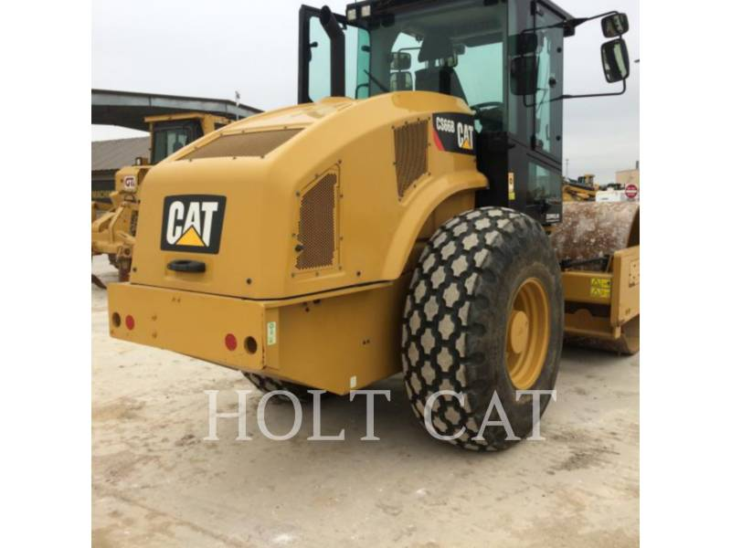 CATERPILLAR VIBRATORY SINGLE DRUM PAD CS66B CAB equipment  photo 3