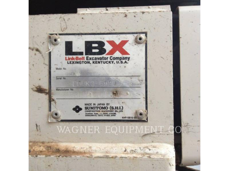 LINK-BELT CONSTRUCTION KETTEN-HYDRAULIKBAGGER 145X3 THB equipment  photo 5