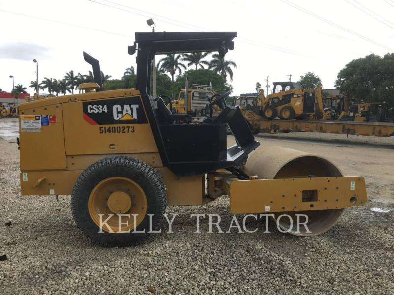 CATERPILLAR VIBRATORY SINGLE DRUM SMOOTH CS 34 equipment  photo 7