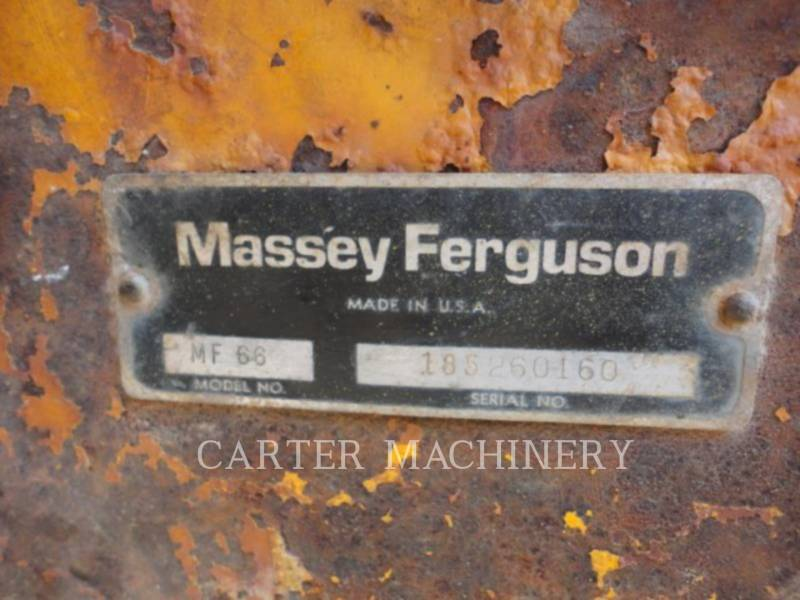 MASSEY HARRIS WHEEL LOADERS/INTEGRATED TOOLCARRIERS MF66 equipment  photo 8