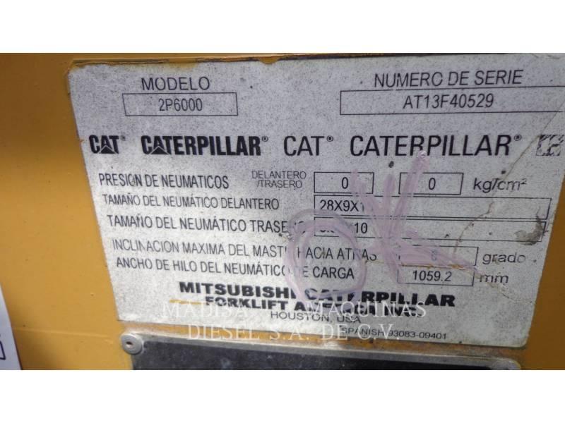 MITSUBISHI CATERPILLAR FORKLIFT FORKLIFTS 2P60004-GL equipment  photo 4
