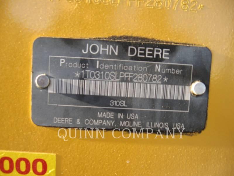 JOHN DEERE BACKHOE LOADERS 310SL equipment  photo 8