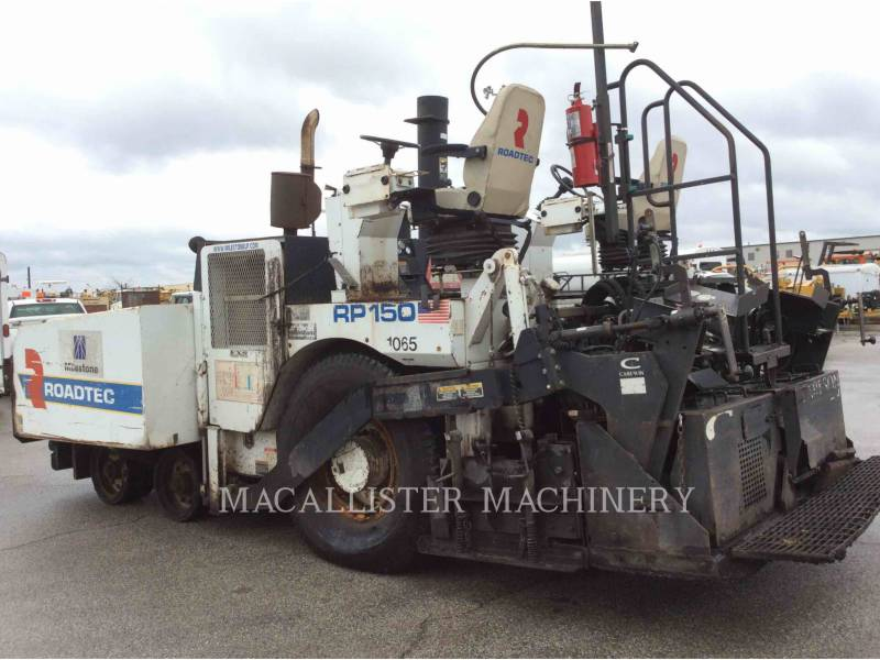 ROADTEC ASPHALT PAVERS RP150 equipment  photo 3