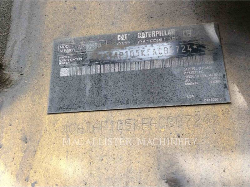 CATERPILLAR FINISSEURS AP-1055D equipment  photo 5