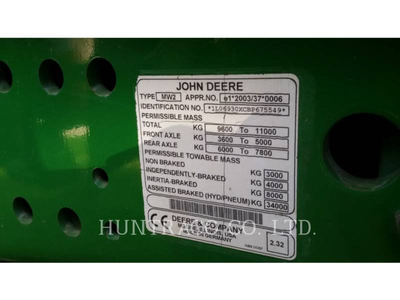JOHN DEERE AG TRACTORS 6930 equipment  photo 14