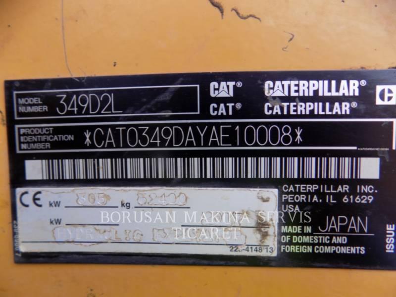 CATERPILLAR ESCAVADEIRAS 349D2L equipment  photo 7