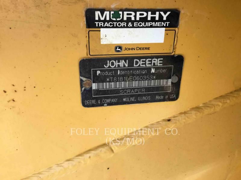 JOHN DEERE スクレーパ - プル・ビハインド 1810E equipment  photo 5