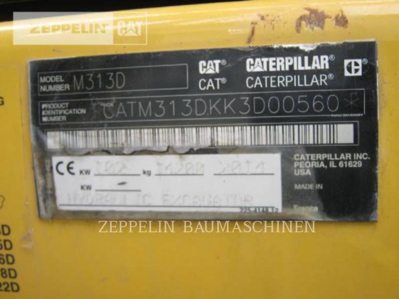 CATERPILLAR EXCAVADORAS DE RUEDAS M313D equipment  photo 12