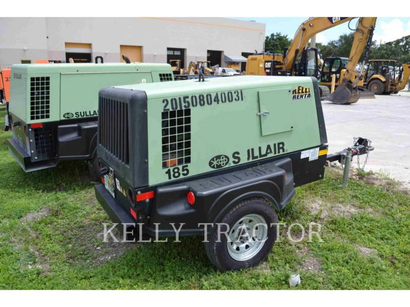 SULLAIR AIR COMPRESSOR (OBS) 185DPQ equipment  photo 2
