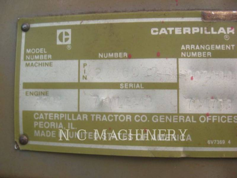 CATERPILLAR FORSTMASCHINE 225B equipment  photo 5