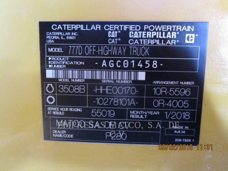 CATERPILLAR MINING OFF HIGHWAY TRUCK 777D equipment  photo 10