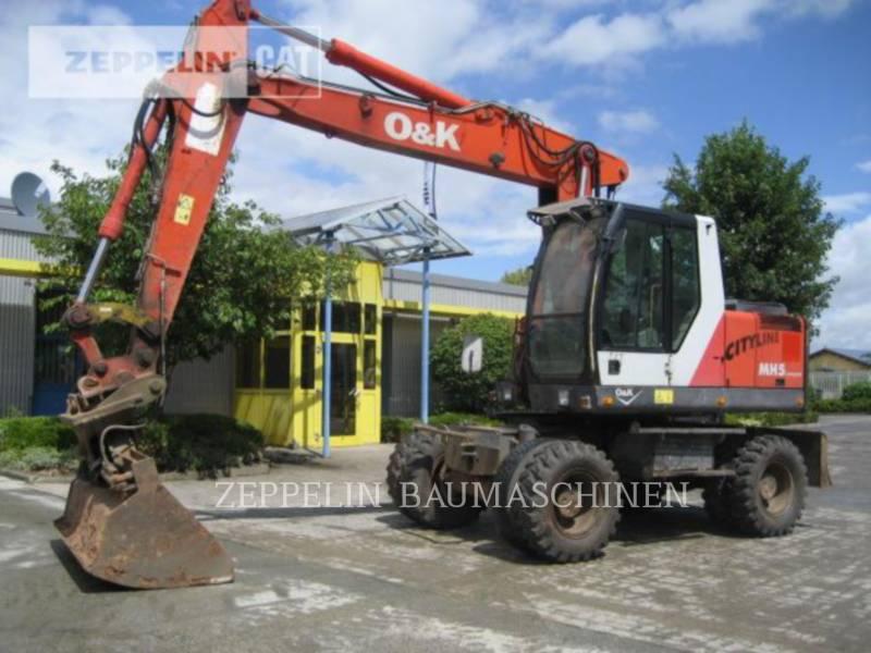 O&K WHEEL EXCAVATORS MH5 equipment  photo 3