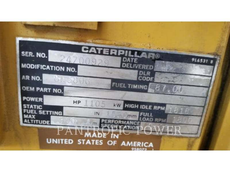 CATERPILLAR 固定式発電装置 3512 equipment  photo 4