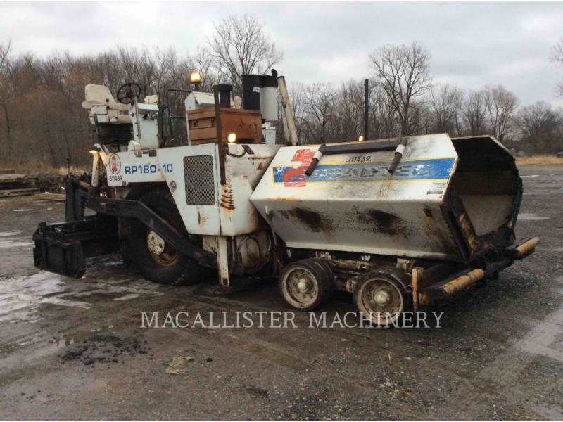 ROADTEC ASPHALT PAVERS RP180 equipment  photo 1