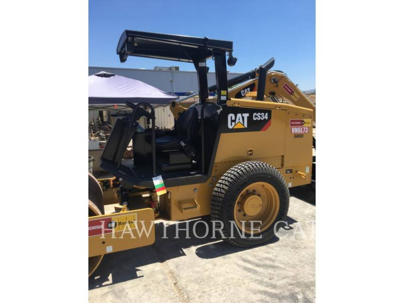 CATERPILLAR COMPATTATORE A SINGOLO TAMBURO VIBRANTE LISCIO CS34 equipment  photo 4