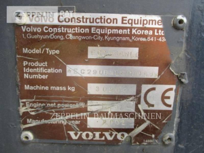 VOLVO CONSTRUCTION EQUIPMENT EXCAVADORAS DE CADENAS EC290BNLC equipment  photo 7