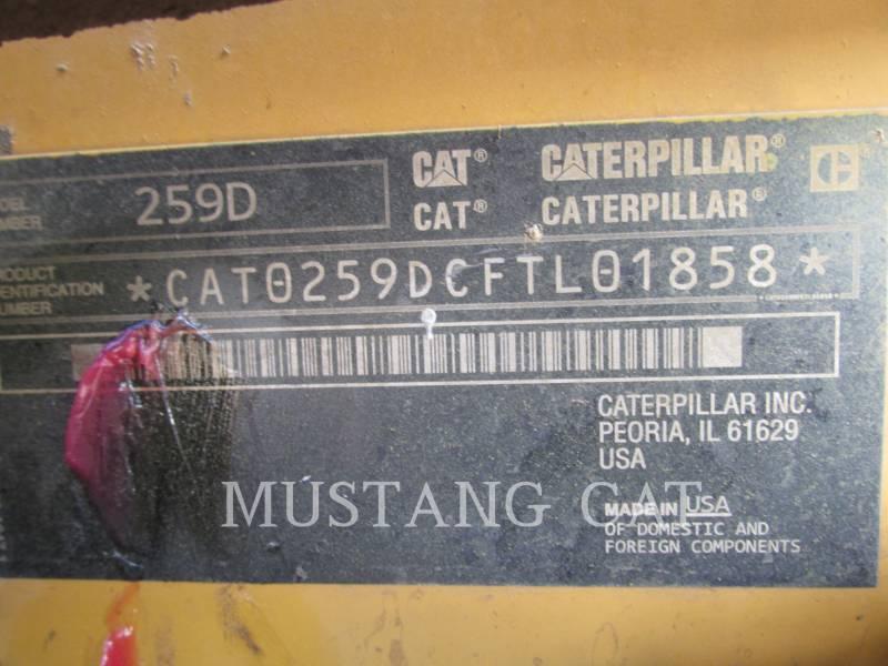CATERPILLAR KOMPAKTLADER 259D equipment  photo 9