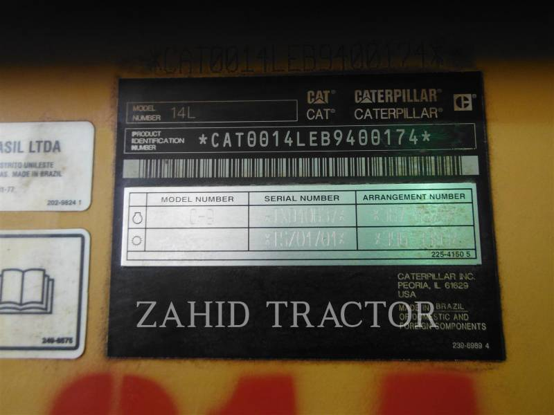CATERPILLAR MOTOR GRADERS 14LAWD equipment  photo 6