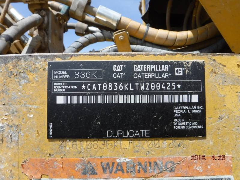 CATERPILLAR COMPATTATORI 836K equipment  photo 24
