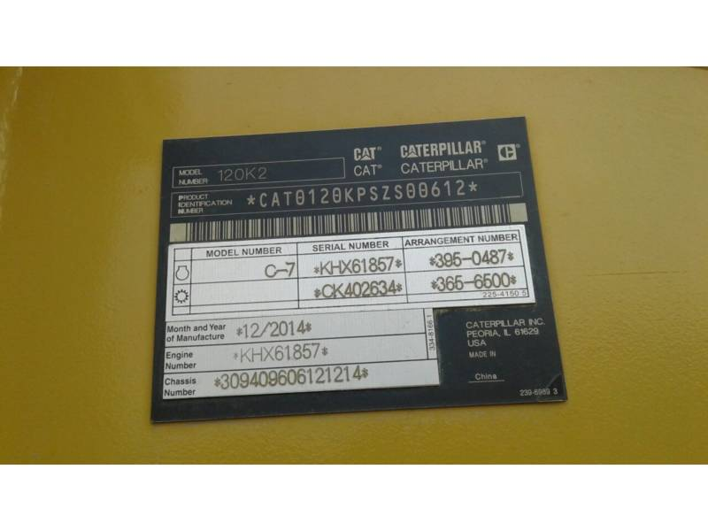CATERPILLAR NIVELEUSES 120K2 equipment  photo 5