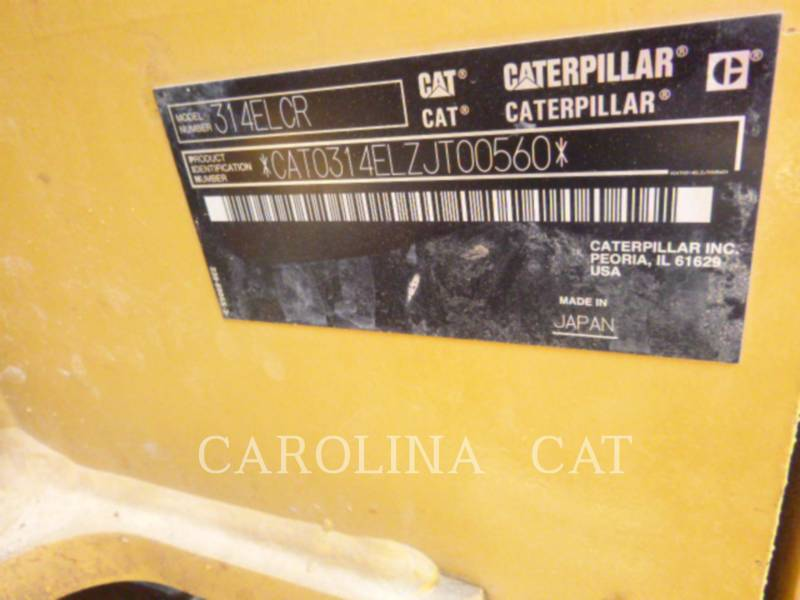 CATERPILLAR EXCAVADORAS DE CADENAS 314ELCRTHB equipment  photo 6
