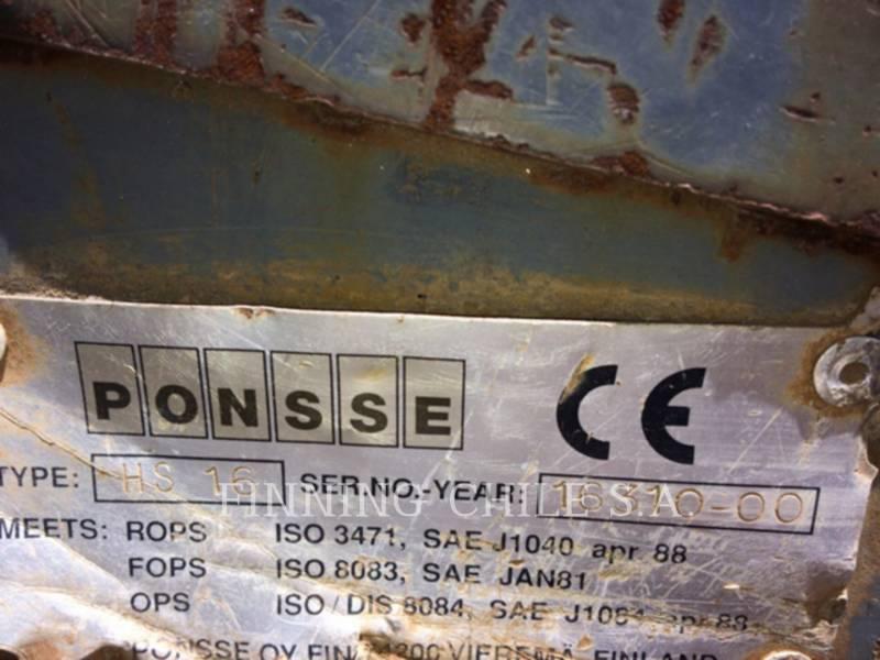 PONSSE FORESTRY - FELLER BUNCHERS - WHEEL ERGO HS16 equipment  photo 16
