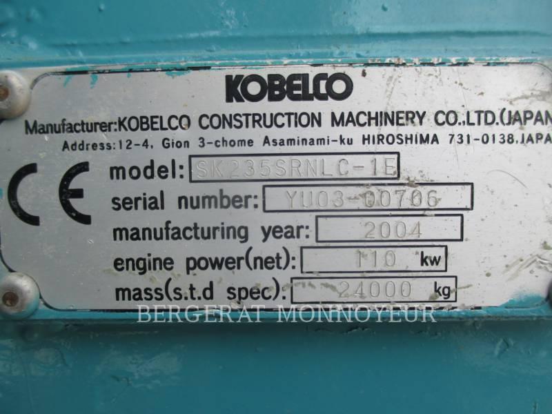KOBELCO / KOBE STEEL LTD TRACK EXCAVATORS SK235 equipment  photo 8