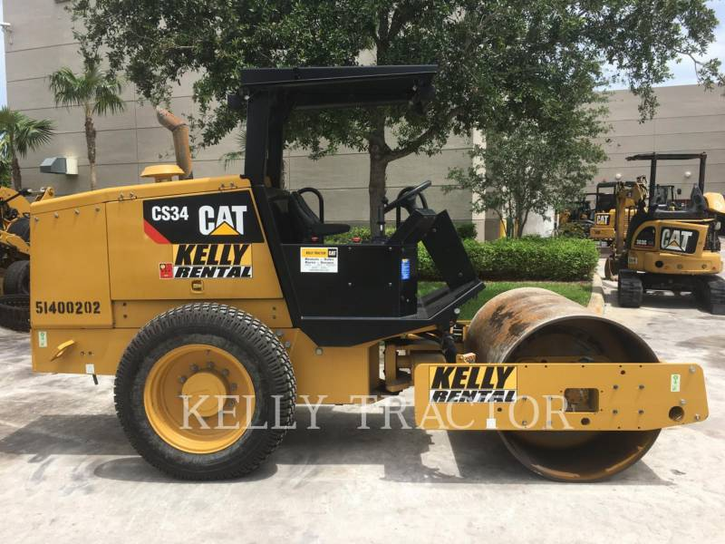 CATERPILLAR EINZELVIBRATIONSWALZE, GLATTBANDAGE CS34 equipment  photo 7