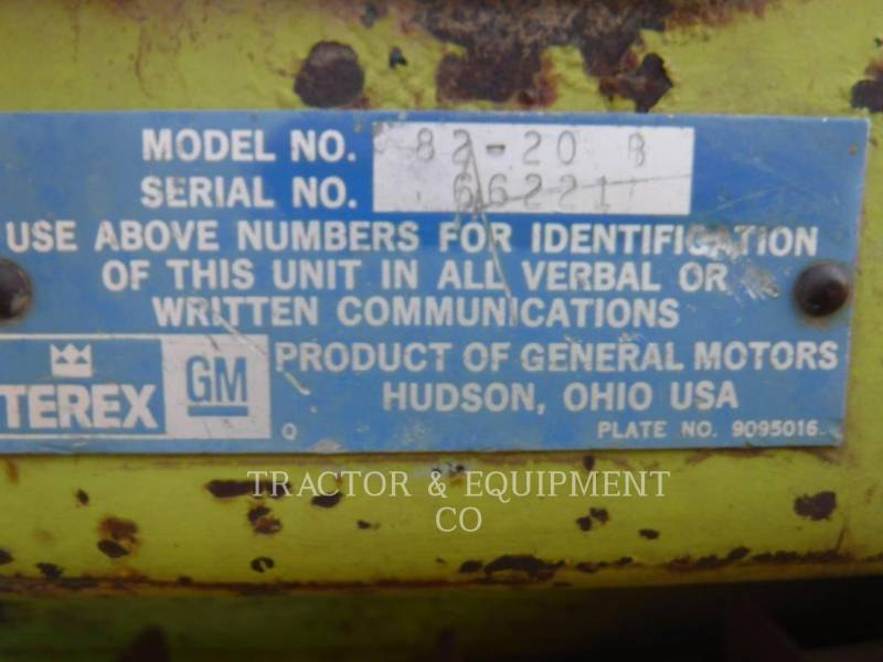 TEREX CORPORATION TRACTORES DE CADENAS 82-20B equipment  photo 2