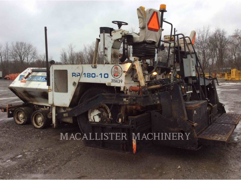 ROADTEC ASPHALT PAVERS RP180 equipment  photo 3