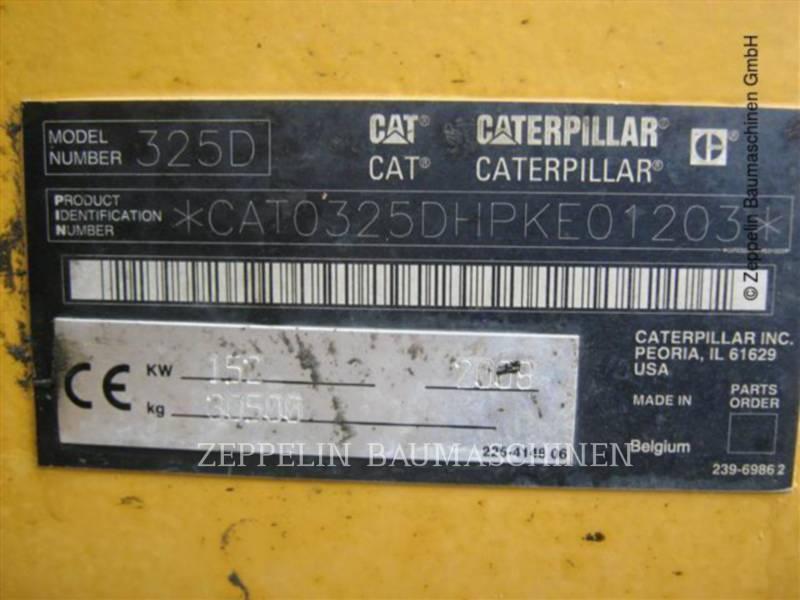 CATERPILLAR PELLES SUR CHAINES 325D equipment  photo 2