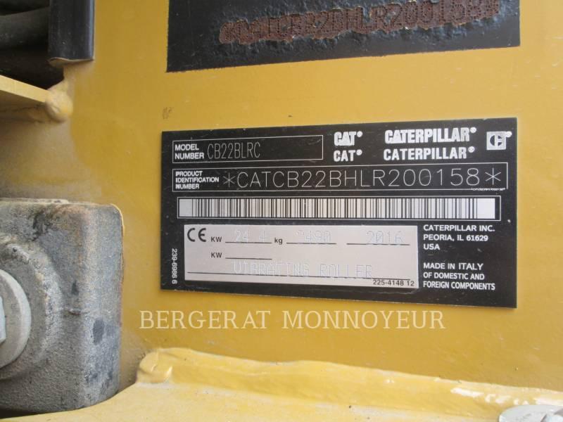 CATERPILLAR TANDEMVIBRATIONSWALZE, ASPHALT CB22BLRC equipment  photo 13