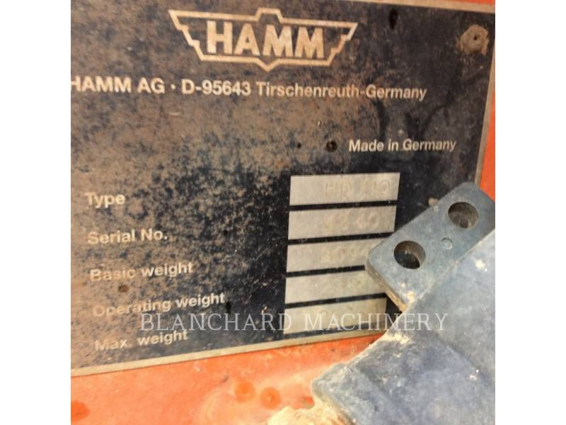 HAMM GMBH TANDEMVIBRATIONSWALZE, ASPHALT HD110 equipment  photo 8