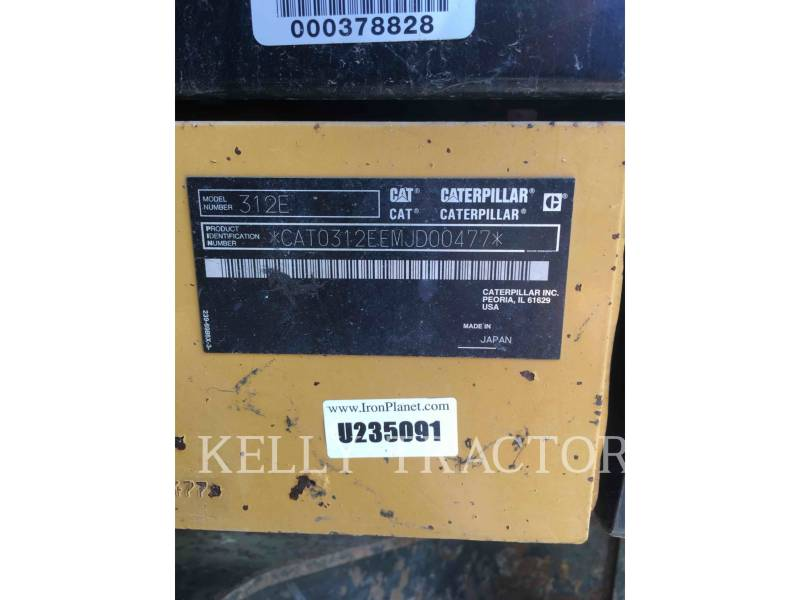 CATERPILLAR EXCAVADORAS DE CADENAS 312EL equipment  photo 19