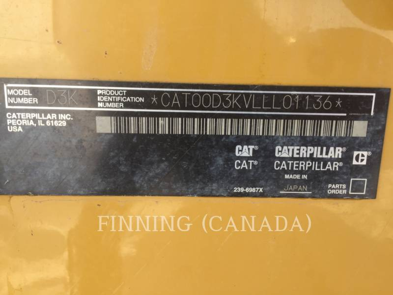 CATERPILLAR TRACTORES DE CADENAS D3K LGP equipment  photo 6