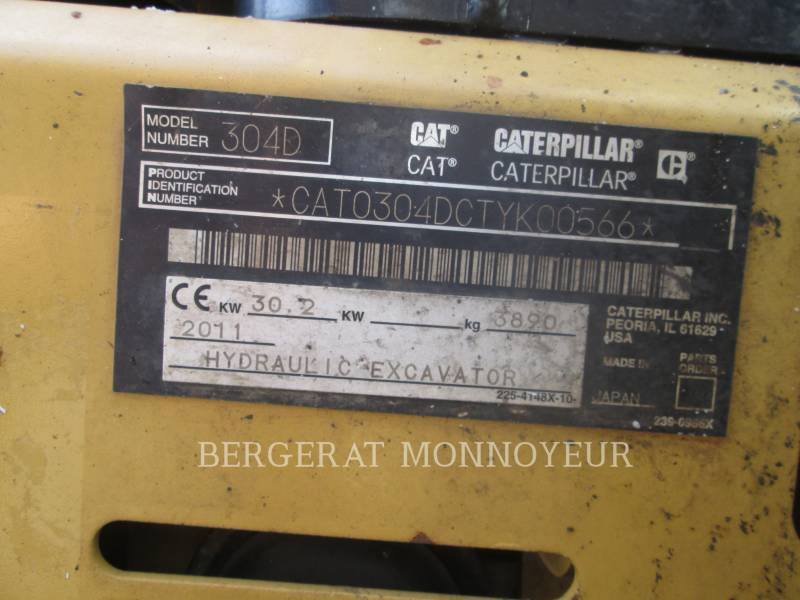 CATERPILLAR PELLES SUR CHAINES 304D CR equipment  photo 9
