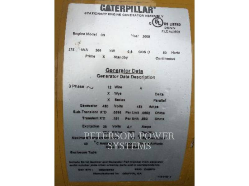 CATERPILLAR STATIONARY GENERATOR SETS C9 equipment  photo 6