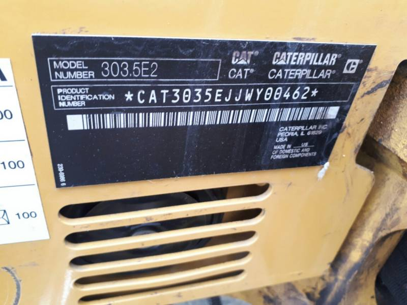 CATERPILLAR PELLES SUR CHAINES 303.5E2CR equipment  photo 11